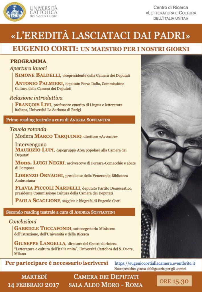 Convegno su Eugenio Corti alla Camera dei Deputati