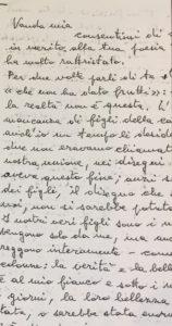La lettera di Eugenio