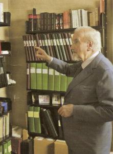 Eugenio Corti nel suo studio nel 2008