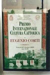 Il manifesto del Premio Internazionale Cultura Cattolica