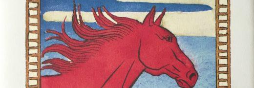 Il cavallo rosso - edizione giapponese